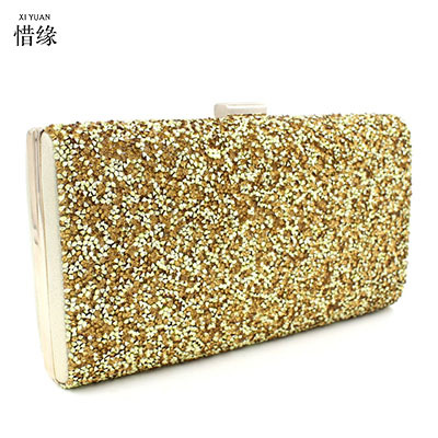 XIYUAN BRAND 2017 female versatile Luxury high quality Diamond evening bag Full drill clutch wallet bridal handbag pochette