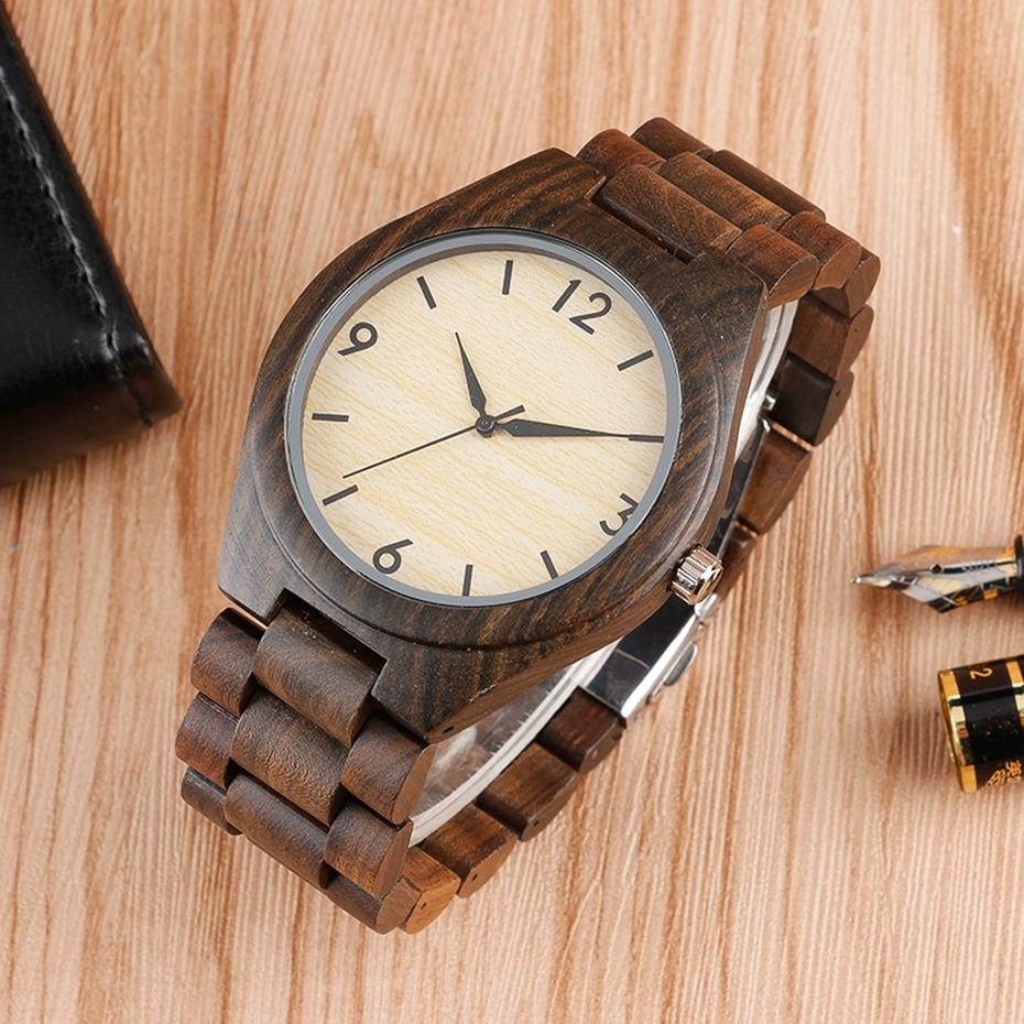 Creative Full Natural Wood Male Watches Handmade Bamboo Novel Fashion Men Women Wooden Bangle Quartz Wrist Watch Reloj de madera 2017 (29)