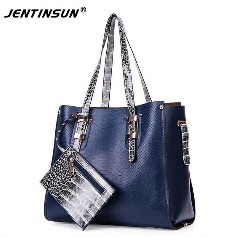 European&American Patent leather Handbag High-grade PU Leather Bag 3 Sets composite Shoulder Bag Fashion Women's Casual Tot patent leather handbag shoulder bag for women