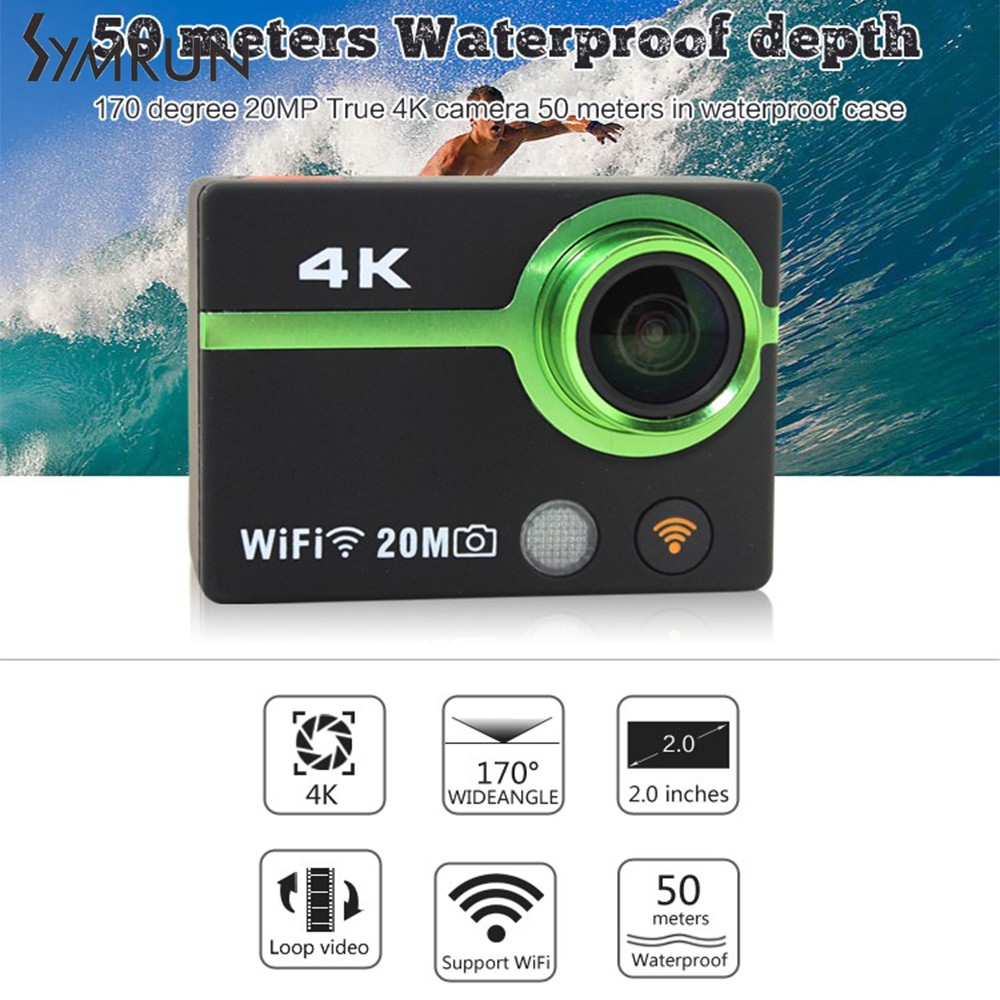 Symrun Venta CALIENTE 12MP 4 K 15fps AT300 Plus Wifi Divierte La Cámara Full HD