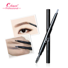 Coosei Brand Eyebrow Pencil Eye Powder Double Sided Waterproof Eyebrow Pencil & Brush Enhancer Long Lasting Makeup Tool недорого