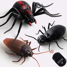 Инфракрасный Радиоуправляемый пульт дистанционного управления, набор игрушек для детей, взрослых, умный таракан, паук, муравей, шалость, шутки, радио, насекомое, для мальчиков, 1 шт