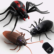 Electronic Pets temila Joke Toy Remote Control Animal Led Light Rc Insects Ant Cockroach Spider Electronic Pet Robot Model Prank Toy Trick Toy Non-Ironing Electronic Toys