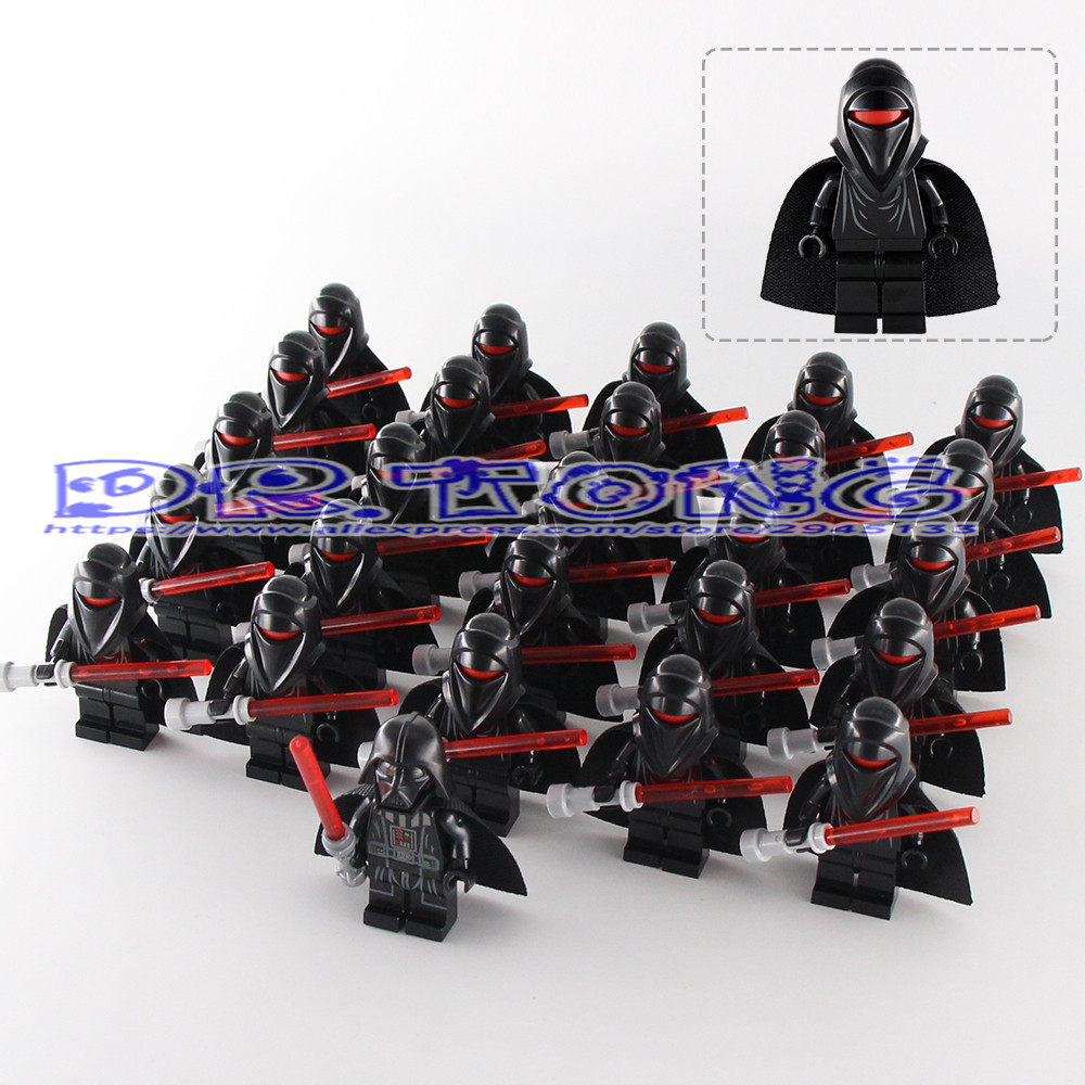 DR.TONG 26pcs Building Blocks Star Wars Storm Soldier Clone Trooper with Weapon Darth Vader With Red Lightsaber Bricks Toys Gift