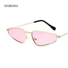 c0cf4dec637c3 BAMONA Vintage Cat Eye Sunglasses Women Brand Designer Small Frame Sun  Glasses Retro Black Eyewear Fashion