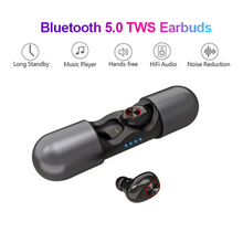 V8 TWS True Wireless Bluetooth Earphones Wireless Headset 5.0 With Charging Compartment No Delay HD Binaural Call SweatProof tws 880 binaural call bluetooth 5 0 earphones waterproof headset true wireless earbuds touch control swimming earphone no delay