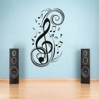DIY Musical Note Wall Stickers Vinyl Decoration Decal Art Livingroom Bedroom Bathroom Home Decor Mural Removable