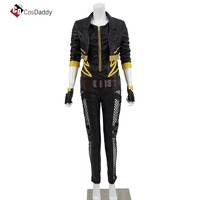 Black Canary Cosplay Costume Jacket Pants Leather CosDaddy