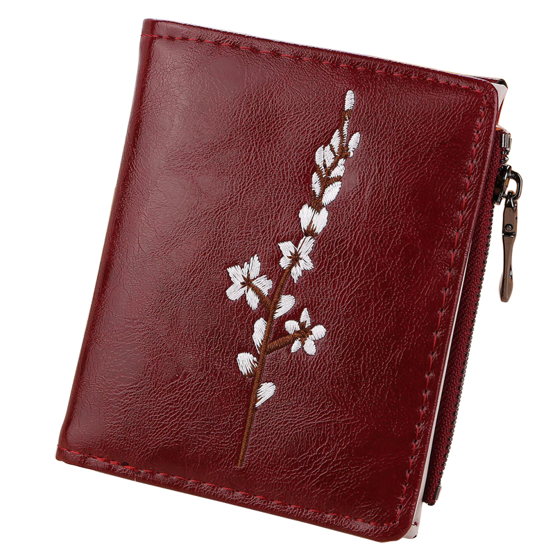 Women Wallets Short Lady Purses Cards Holder Hasp Zipper Coin Purse Floral Woman Wallet Girls Flower Money Bags Pouch Bag Pocket cute girl hasp small wallets women coin purses female coin bag lady cotton cloth pouch kids money mini bag children change purse