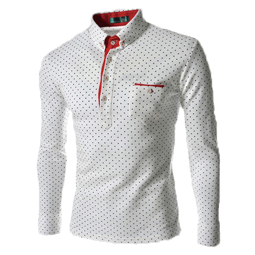 Free shipping spring of new mens long sleeve shirt british fashion wave men s long sleeved