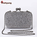 Free Shipping Vintage Beading Women's Clutch Bags Party Evening Bags Retro Wedding Small Clutch Purse Chain Shoulder Handbags