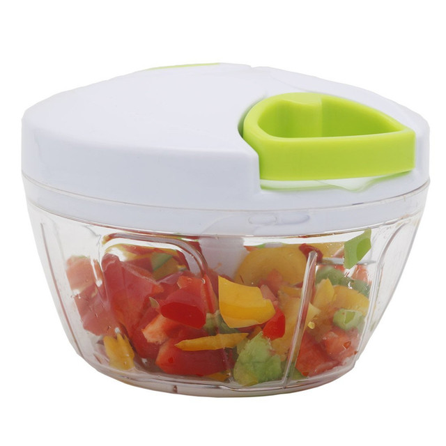 Manual Food Chopper Powerful Hand Held Vegetable Chopper / Mincer / Blender  To Chop Fruits,