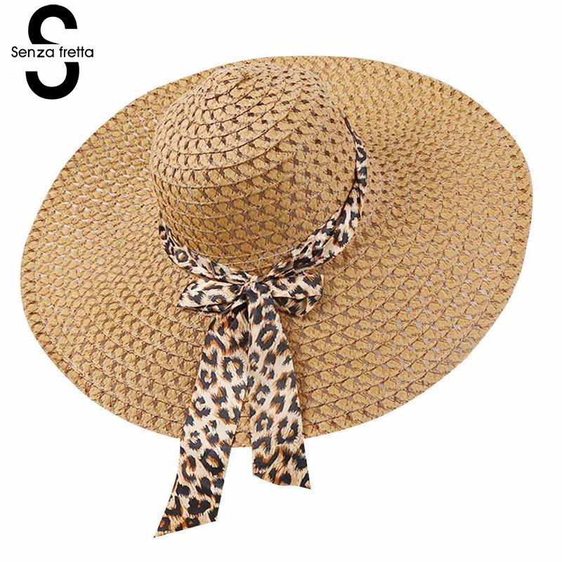 2019 New Women Summer Hat Wide Brim Straw Hat Summer Beach Hats Floppy Fold Straw Sun Hats for Women