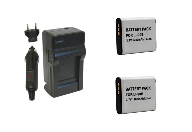 Prix pour 2x li-90b li-92b li92b li90b 90b batteries + chargeur pour olympus xz-2, sh-50, SH-1, SP-100, Tough TG-1, TG-2, TG-3, TG-4, TG-tracker.