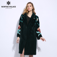 Petal three dimensional figure imported mink fur coat long mink coats women Self cultivation fur coat