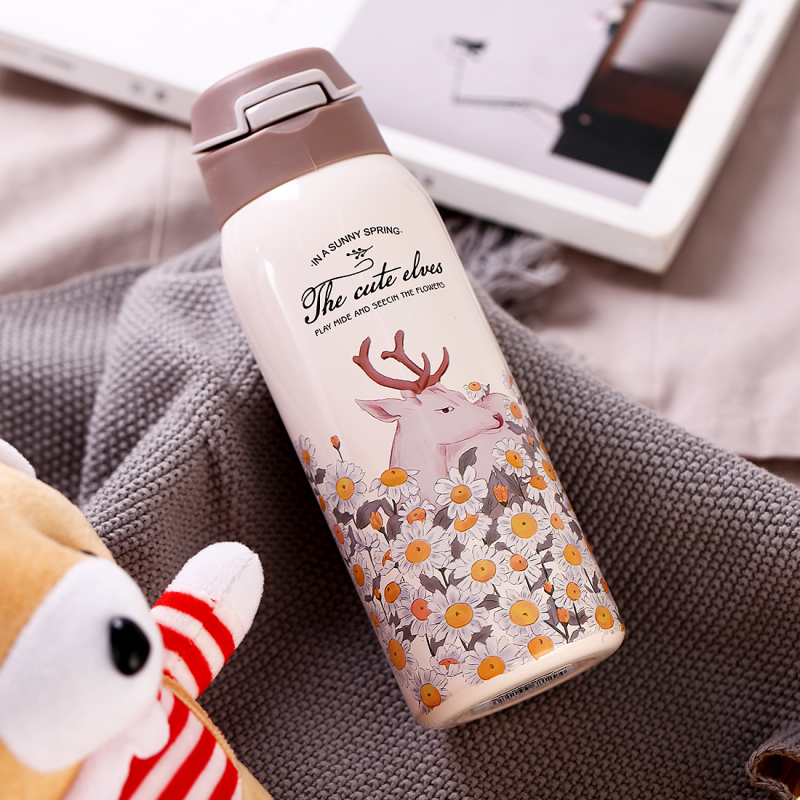 HTB13Kd2XUY1gK0jSZFMq6yWcVXak 380/450ML Double Wall Sport Tea Coffee Thermos Hot water bottle 304 Stainless Steel Vacuum Flask mug with straw insulated cup
