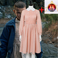 c8d42aa51851 Stranger Things Cosplay Costume Girls Eleven Millie Bobby Brown Dress  Costumes Adult Women Full Sets Halloween