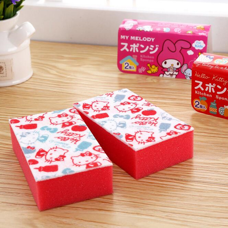 Cute red hello kitty sponge 2pc set kitchen home bathroom for Spong kitchen set 702
