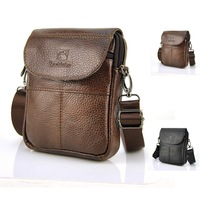 100 Genuine Real Cow Leather Classic Small Flap Bag Men Women Casual Shoulder Messenger Pouch Brand