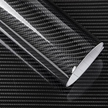 50CM x 200CM de alto brillo 6D fibra de carbono vinilo envoltura película apariencia decoración motocicleta pegatinas para Tablet coche estilo