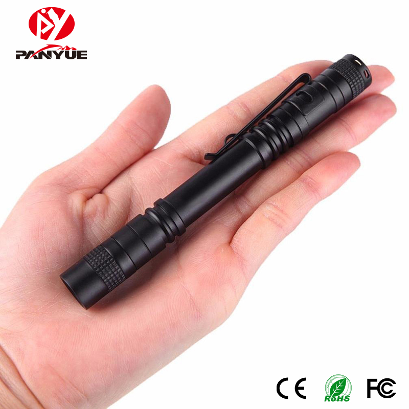 PANYUE Portable Mini Penlight R3 300LM LED Flashlight Torch Pocket Light 1 Switch Modes Outdoor Camping Light Lamp