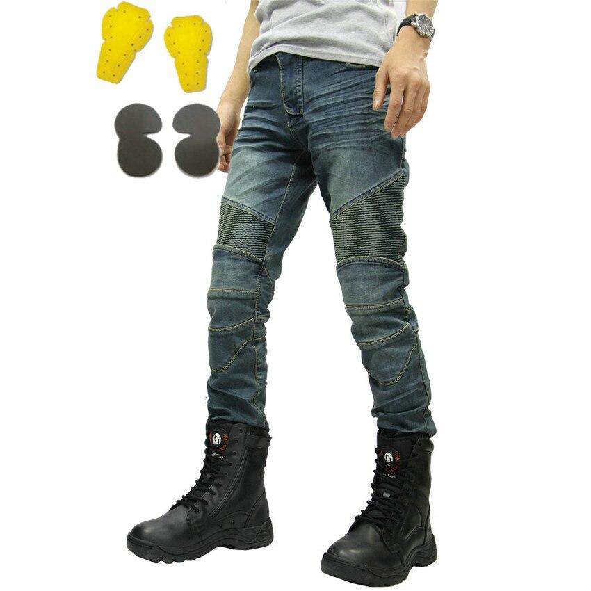 PK717 MOTORPOOL KOMINE классический УГБ синий черный брюк брюки джинсы мотоцикл ездить джинсы свободный версия защиты оборудования