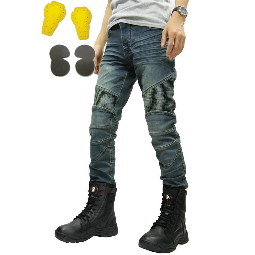 PK717 MOTORPOOL KOMINE Classic UGB Blue Black Trouser Slacks Jeans Motorcycle Ride Jeans Leisure Loose Version Protect Equipment