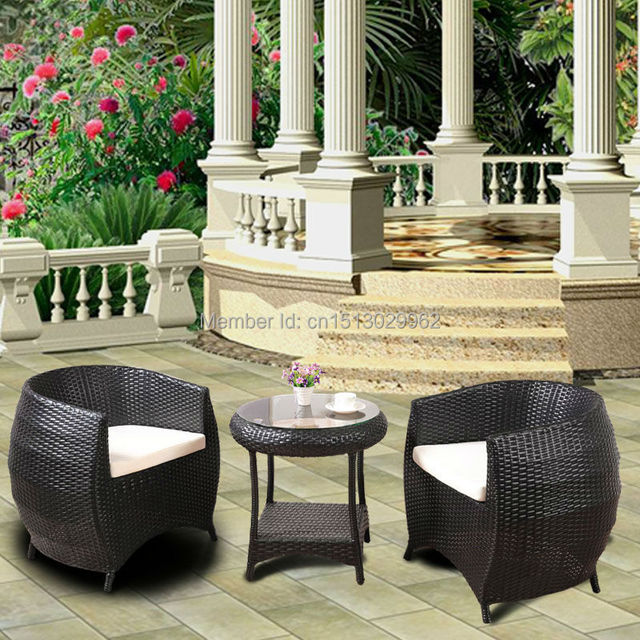 Modern style black synthetic rattan hand made outdoor garden furniture leisure  outdoor round tea. Aliexpress com   Buy Modern style black synthetic rattan hand made