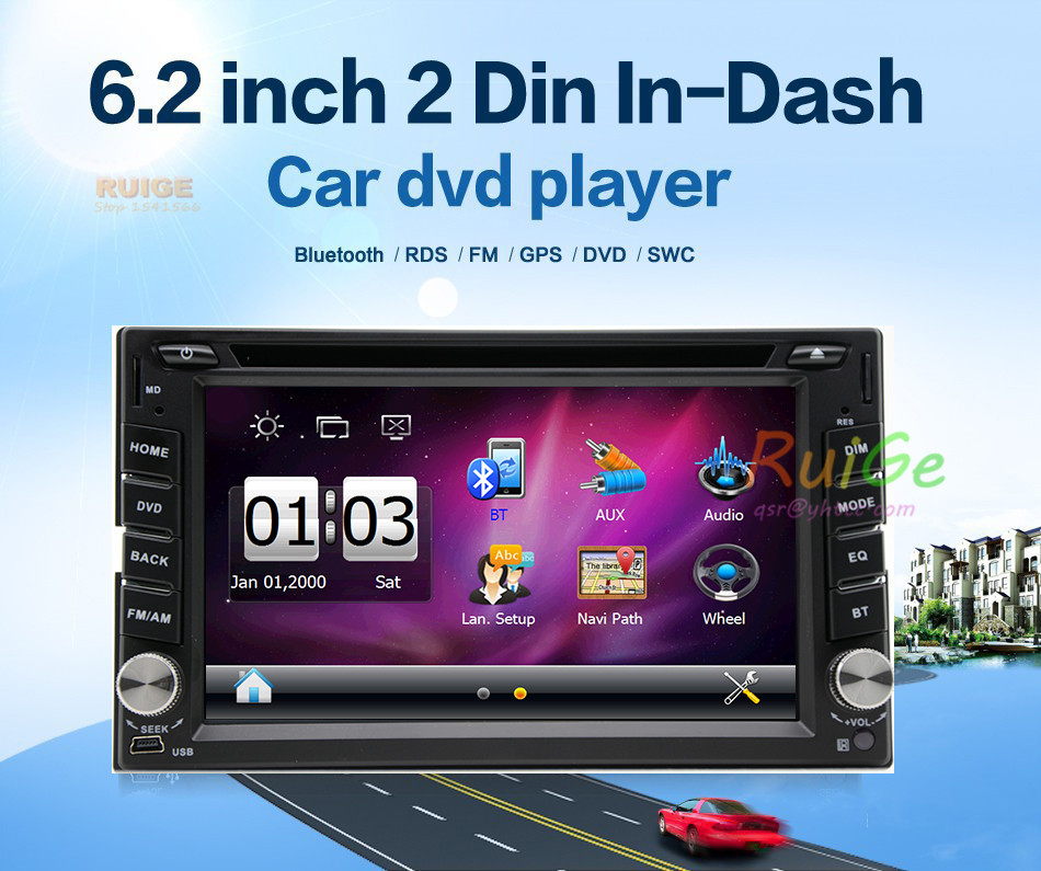 6.2 Universal 2 Din HD Car Radio MP5 Player Bluetooth Radio Entertainment Multimedia USB/TF In-Dash FM Aux Input