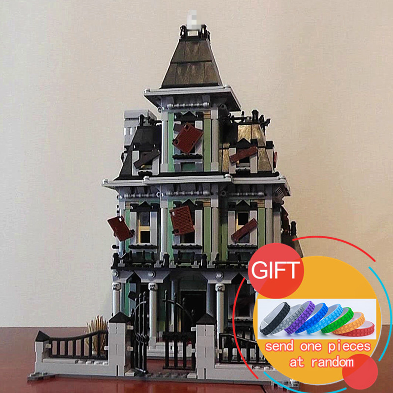 16007 2141Pcs Monster fighter The haunted house Model set Compatible With 10228 Building Kits Model Block Toys the monster next door