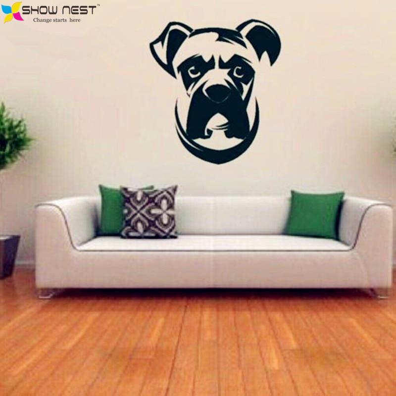 Boxer Dog Wall Decal Vinyl Sticker ,Cute Dogs Mural Kids Wall ...