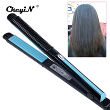 Discount! Temperature Control Electric Hair Straighteners  Straightening Corrugated Iron Hair Crimper Corn Plate Styling Tools 478