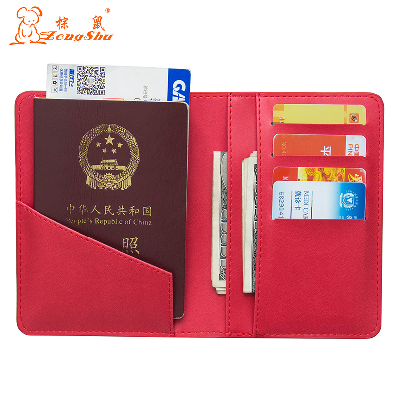 Card & Id Holders Russian Oil Double Eagle Red International Standard Size Passport Cover Built In Rfid Blocking Protect Personal Information Coin Purses & Holders