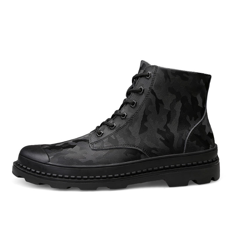 Warmest Genuine Cow Leather Handmade Men Winter Snow Boots Outdoor Warm Lace Up Shoes with Fur Big Size 46