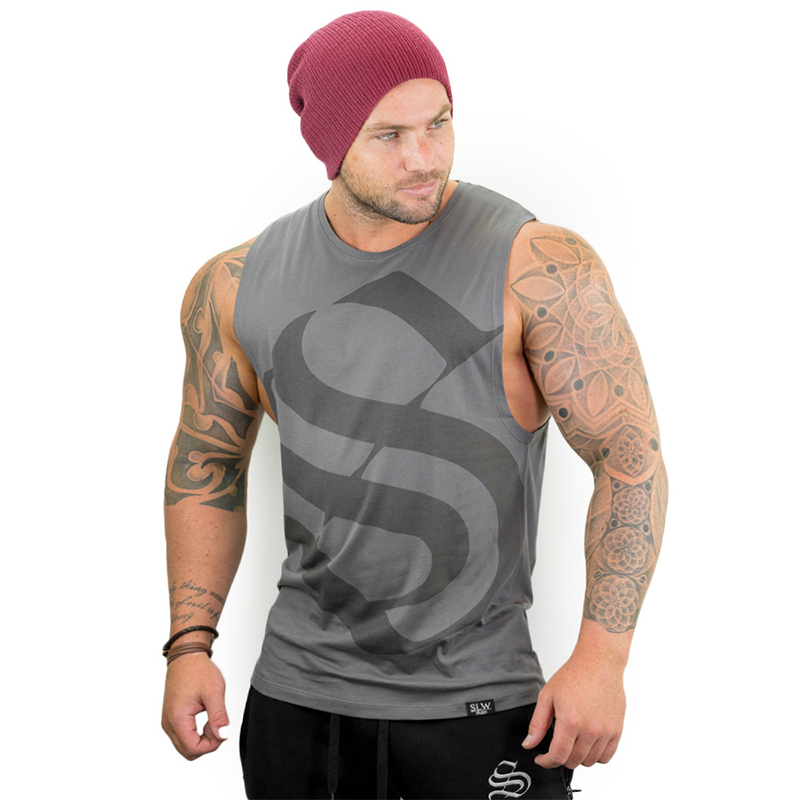 Men Gyms Tank Top Workout Fitness Sleeveless Shirt Vest Slim Fit Mens Bodybuilding Clothes Fashion Streetwear