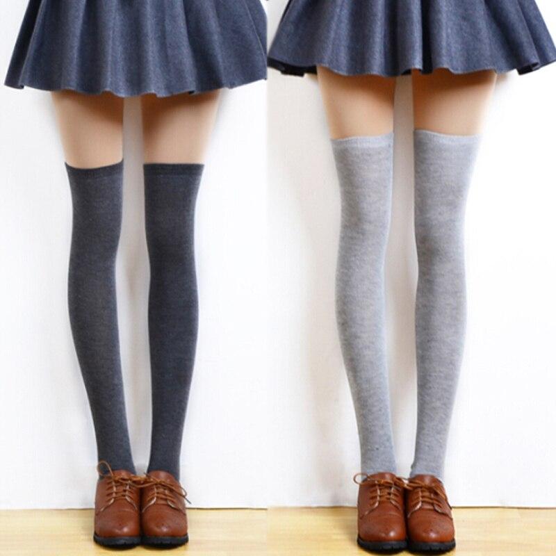 3 пары, женские сексуальные теплые колготки выше колена, чулки для женщин, модные осенне-зимние чулки до колена, Нескользящие длинные чулки