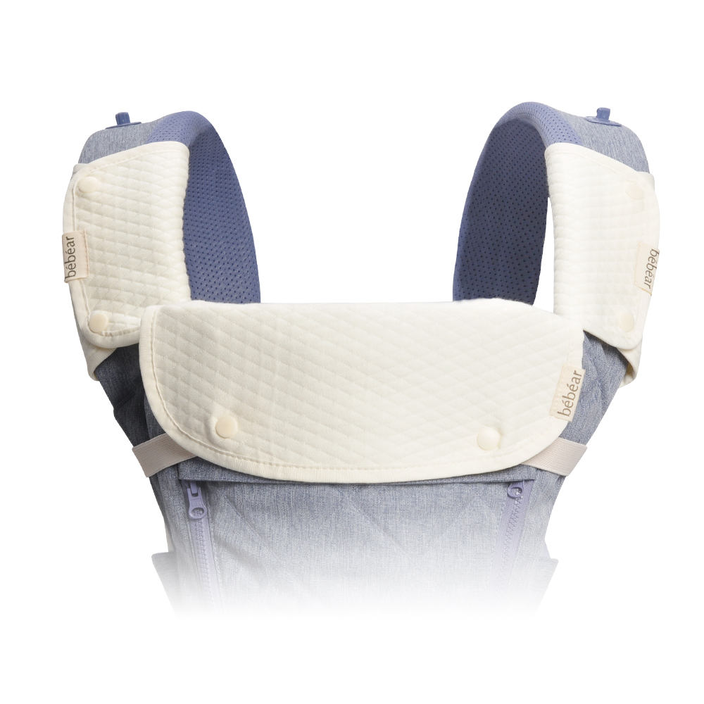 Bebamour Universal Baby Bibs Soft Cotton Carrier Bibs Three-pieces Baby Bib for All Baby Carriers Hipseat