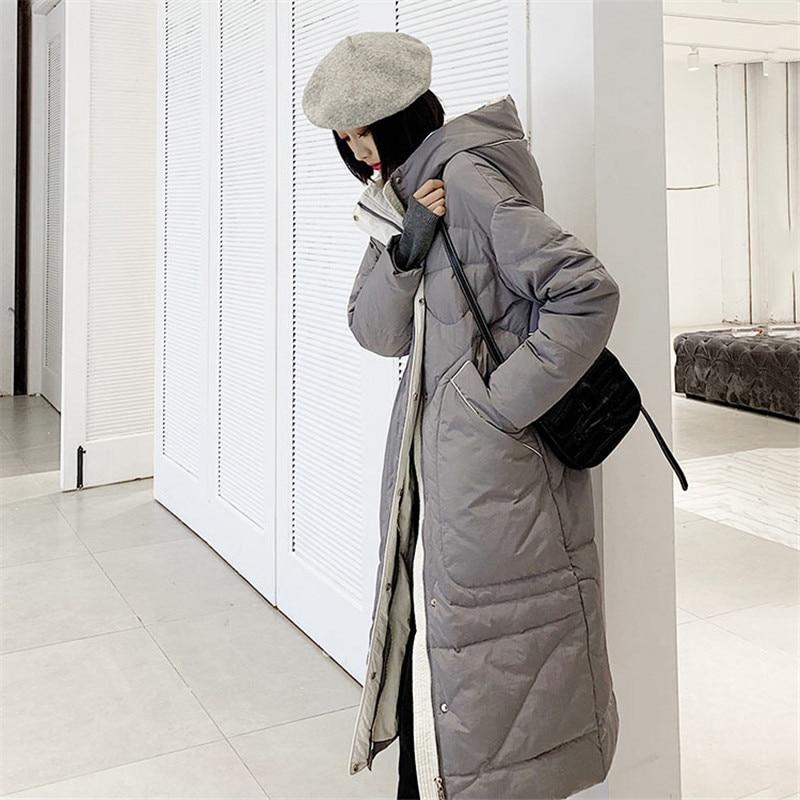 Long Femmes Bas Nouvelle Mode Vestes 2018 Femme Hiver Survêtement Coréenne Parkas Xy795 Taille Veste gray Grande Le Black Slim Vers Femelle Manteaux qxtCnawTBW