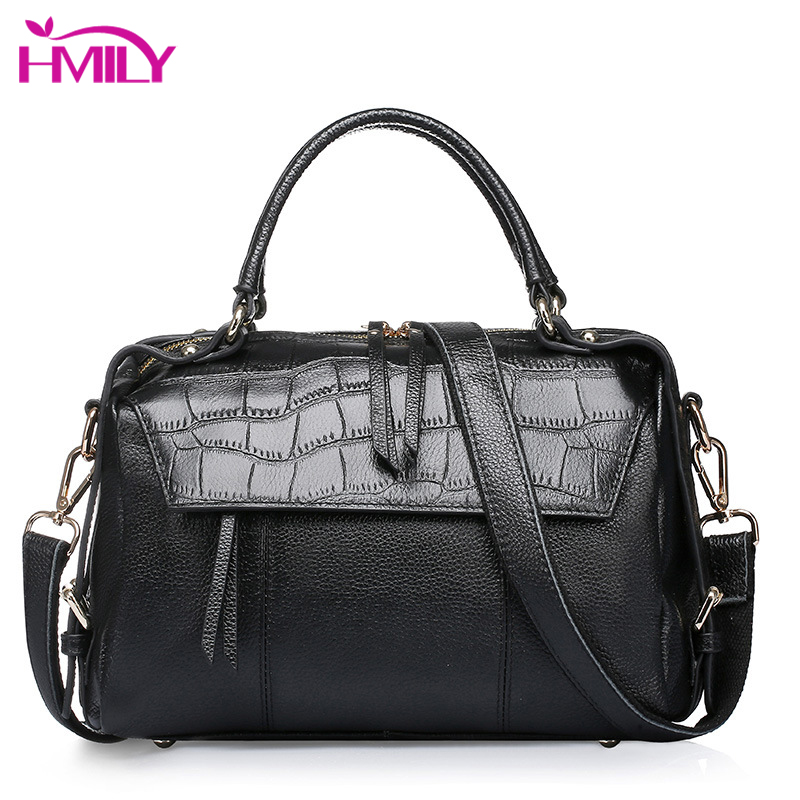 HMILY Women Handbags Genuine Leather Daily Shoulder Women s Soft Cow Leather Messenger Bag For Lady