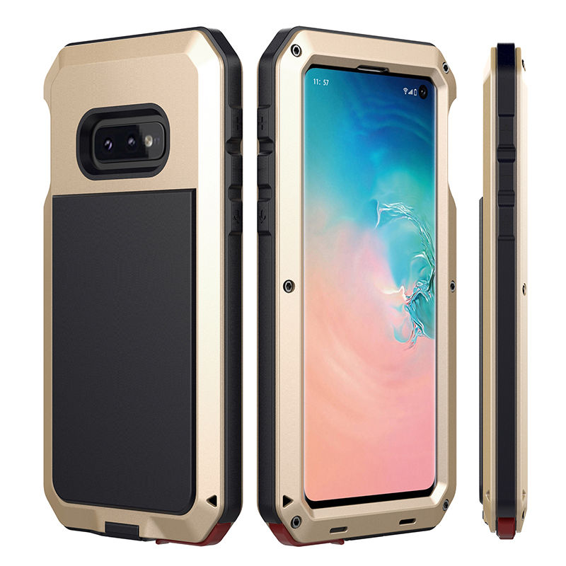 Doom <font><b>Armor</b></font> Dropproof Metal Aluminum <font><b>Case</b></font> + Silicon <font><b>Case</b></font> <font><b>for</b></font> Samsung Galaxy S10e S10 Plus Shockproof Protective Cool Cover image