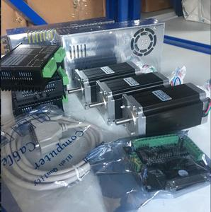 Image 2 - CNC 3 Achsen Nema 23 Schrittmotor 1,8 grad, 428oz in, 4.2A, WT57STH115 4204A & (DQ542MA fahrer) ganze CNC Mühle Controller kit