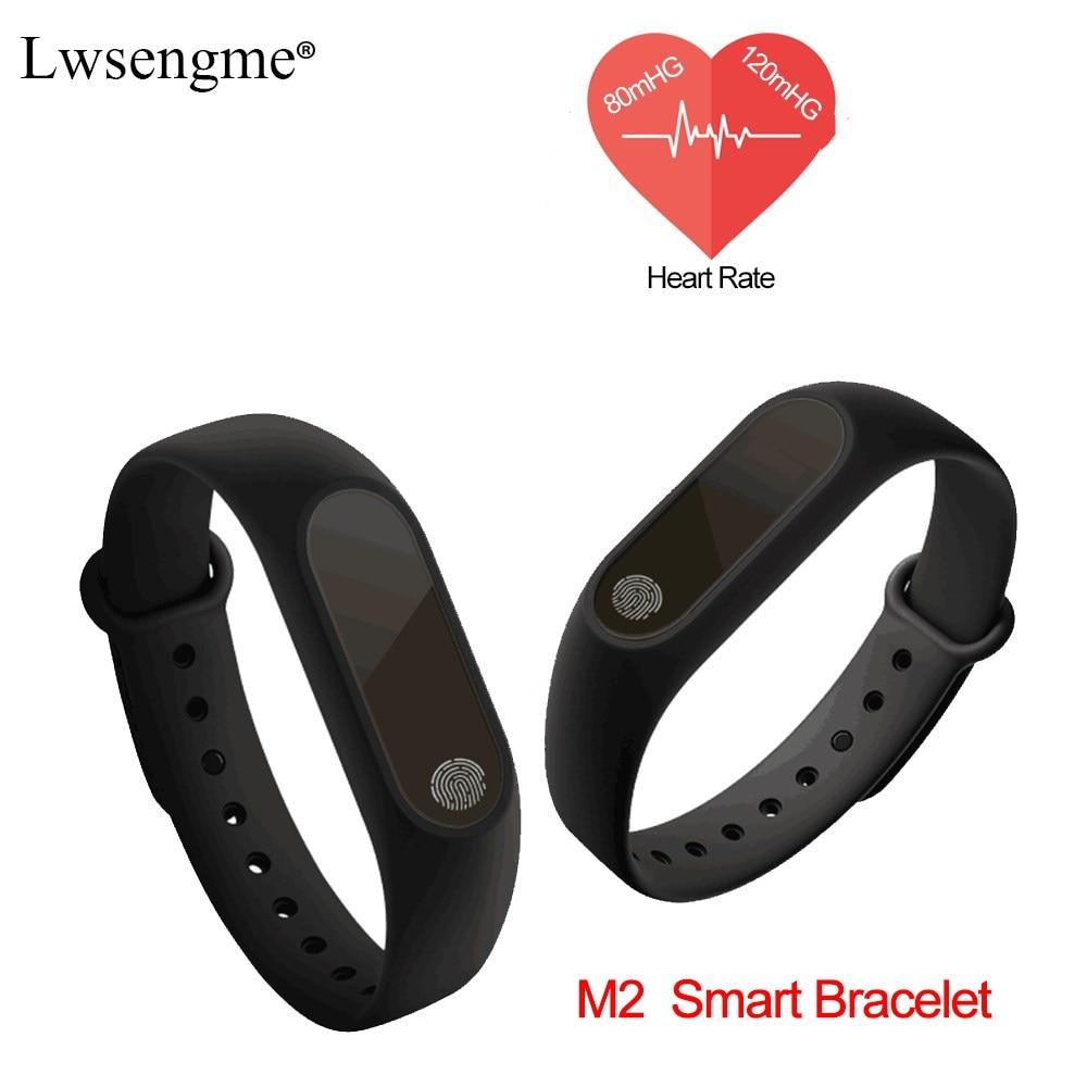 M2 Smart <font><b>Band</b></font> Bracelet fitness Wrist Watch Heart Rate Sleep Monitor Waterproof IP67 <font><b>Bluetooth</b></font> 4.0 OLED Tracker fit Android IOS