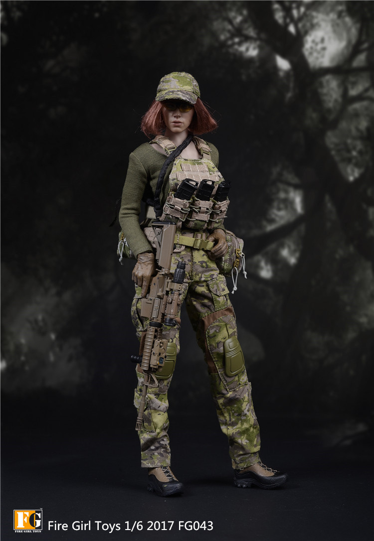 1/6 FG043 American Seal CP Camouflage Women's Suit for 12inch Phicen TBleague Verycool Action Figure
