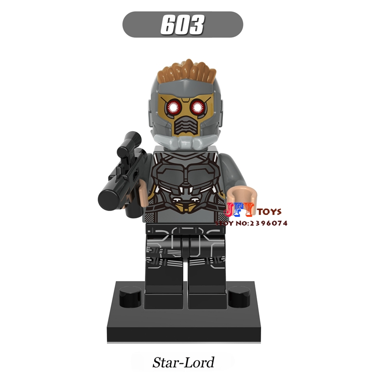 Single star wars building blocks Guardians of the Galaxy Star-Lord model bricks toys hobbies for children brinquedos menino loz super mario kids pencil case building blocks building bricks toys school utensil brinquedos juguetes menino jouet enfant