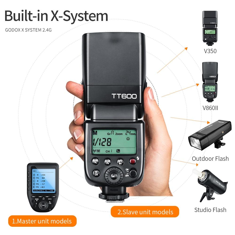Image 3 - Godox TT600 2.4G Wireless GN60 Master/Slave Camera Flash Speedlite with Xpro Trigger for Canon Nikon Sony Pentax Olympus FujiFlashes   -