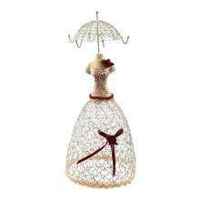Display Jewelry Display Stand Jewelry Holder Doll Princess Dress red