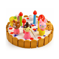 Pretend Play Birthday Cake Cutting Fruit Toy DIY Kitchen Food Cocina De Juguete Play House Gift for Children Kids Girl