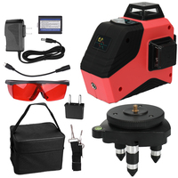 professional 3D 12 Red Line Leveler 360 degree Laser Level Touch Key nivel laser Measurment Instrument with Non slip Fixed Base