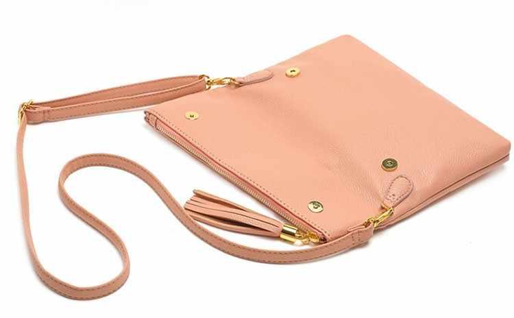 ... Women Leather Fashion Messenger Bag Tassel Fold Cover Sling Girl Shoulder  Crossbody Bag Famous Brand Design ... 0c41422fd1808