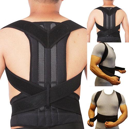 Artículo caliente! Mountaineer Escalada Run Lumbar Respaldo Ajustable Cinturón Corrector de Postura
